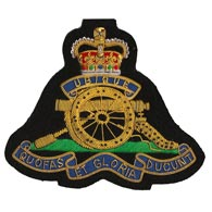 Royal Artillery Regiment Wire Blazer Badge