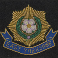 East Yorkshire Regiment Wire Blazer Badge