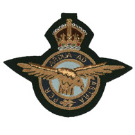 RAF George VI wire blazer badge