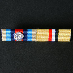 Ribbon Bar of OSM Afghanistan with Rosette and Iraq Medal