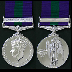 GSM George 6th with Palestine 1945-48 Clasp