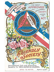 Friendly Society One for One campaign advertising postcard