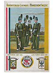 Military Art Postcard Luxembourg Uniform