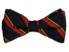 Royal Marines striped bow tie