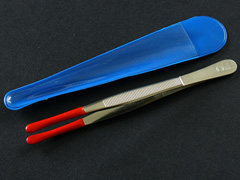 Rubber Tipped Coin Tweezers