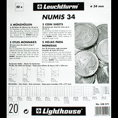 Numis coin pages for coins up to 34mm.