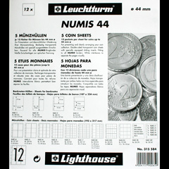 Numis coin pages for coins up to 44mm