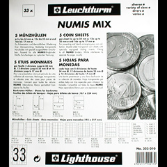 Mixed pack of Numis coin pages for various coins