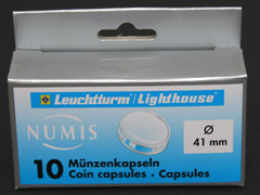 Pack of 10 Lighthouse 41mm coin capsules