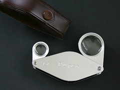 Ruper Hilkinson 8x and 15x Folding Metal Magnifier