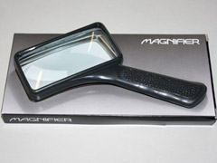 Rectangular glass hand magnifier