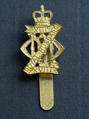 13th-18th Royal Hussars (QC) Cap Badge