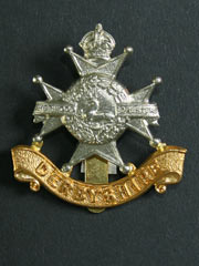 Derbyshire Regiment Sherwood Foresters GVIR Cap Badge