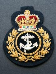 Royal Navy Fleet Chief Petty Officer Qc Cap Badge