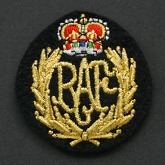 RAF Airman QC Cloth Cap Badge
