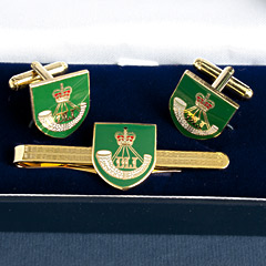 Durham Light Infantry Cufflinks Tiepin Set