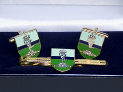 Royal Signals boxed cufflink and tie bar