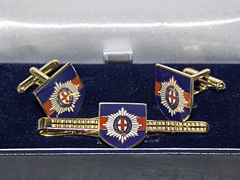 Coldstream Guards boxed cufflink and tie bar