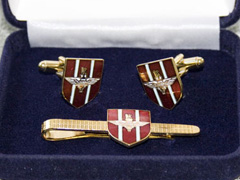 Parachute Regiment boxed cufflink and tie bar