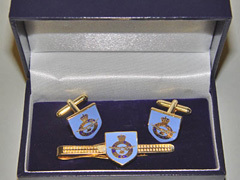 RAF boxed cufflink and tie bar