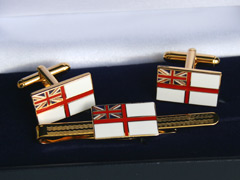 Royal Navy Ensign Cufflink and Tiepin Set
