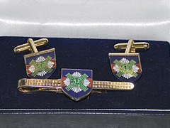 Scots Guards boxed cufflink and tie bar