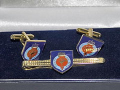 Welsh Guards boxed cufflink and tie bar