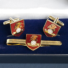 Yorkshire Regt cufflinks and tiepin set
