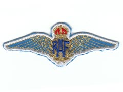 RAF wings sew on patch