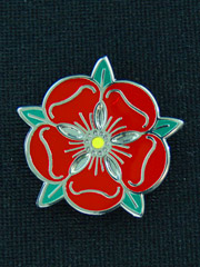 Lancashire Red Rose Lapel Badge