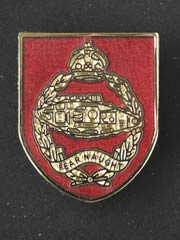 Royal Tank Regiment Red Background 1st RTR Lapel Badge