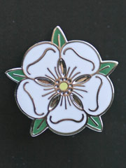 Yorkshire Rose lapel badge