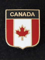 Canada Maple Leaf Shield Lapel Badge