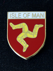 Isle of Man Shield Lapel Badge