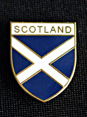 Scottish Cross of St.Andrews Lapel Badge
