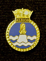 HMS Albion navy crest lapel badge