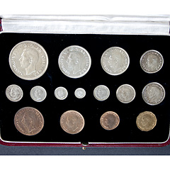 1937 Coronation 15 Coin Specimen Set