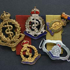 Collection of RAMC George Crown Badges
