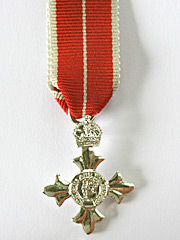 OBE Military miniature medal type 2
