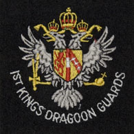 1st Kings Dragoon Guards silk blazer badge