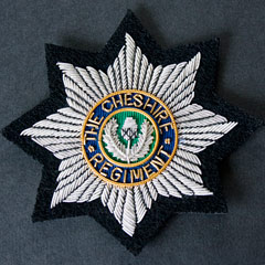 Cheshire Regiment Wire Blazer Badge