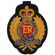 Royal Engineers Wire Blazer Badge