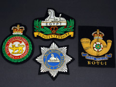 Mixed Regimental Wire Blazer Badges