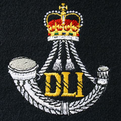 Durham Light Infantry Silk Blazer Badge