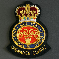 Grenadier Guards wire blazer badge