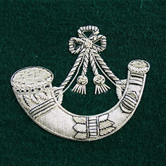 Light Infantry wire blazer badge green