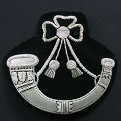 Light Infantry Wire Blazer Badge