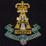 Princess Wales Regiment Wire Blazer Badge
