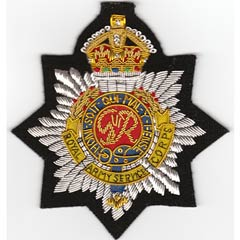 Royal Army Service Corps Wire Blazer Badge
