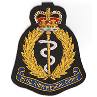Royal Army Medical Corps Wire Blazer Badge